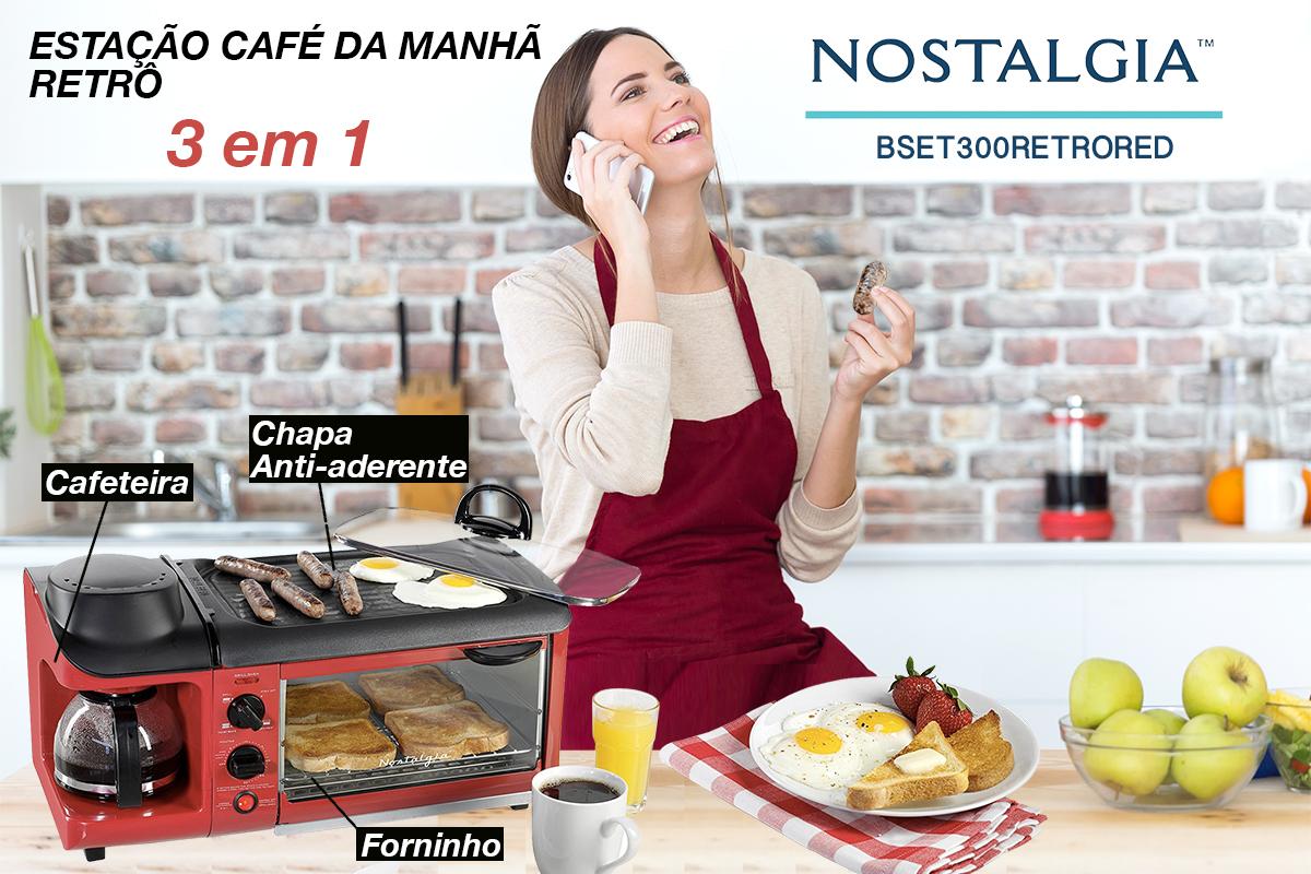ESTAÇÃO DE CAFÉ DA MANHÃ 3 EM 1 BSET300 RETRO